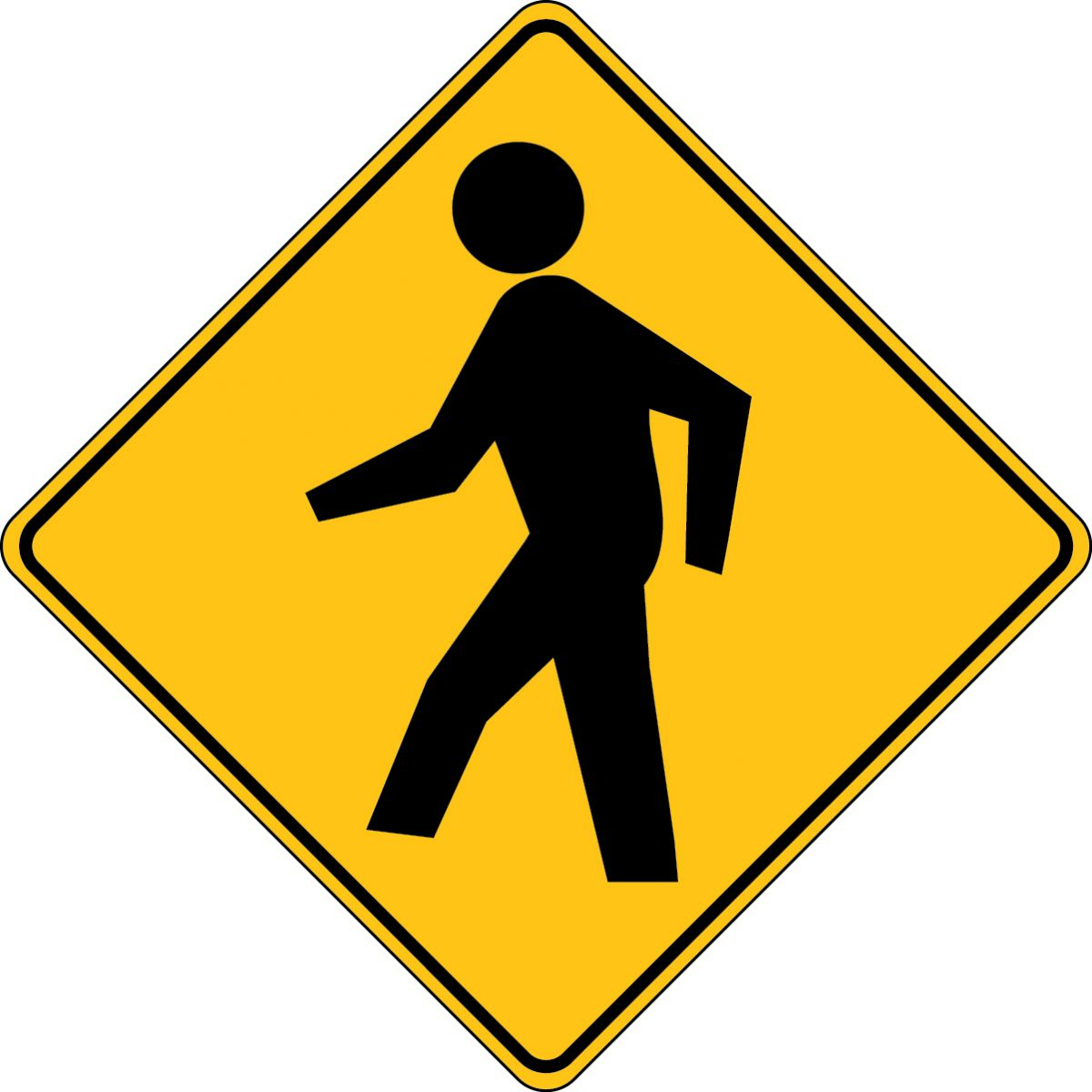 (PEDESTRIAN CROSSING SYMBOL) <br>Revised 2009