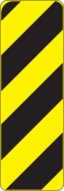 (TYPE 3 OBJECT MARKER - OBSTRUCTIONS ADJACENT TO OR WITHIN THE ROADWAY)