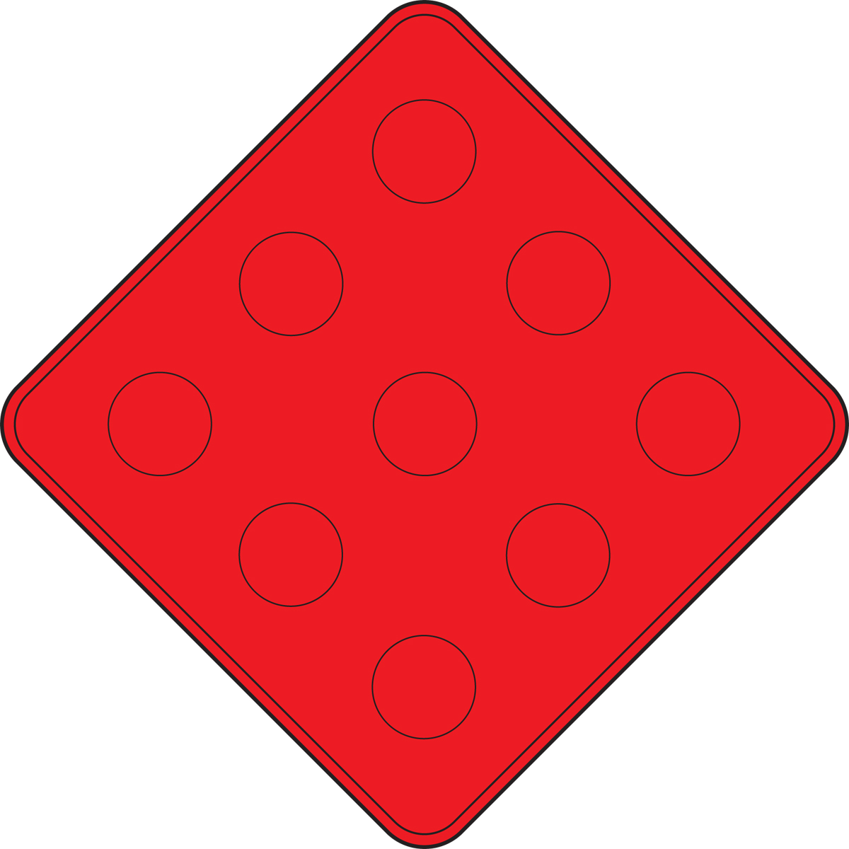(TYPE 4 OBJECT MARKER – END OF ROADWAY)