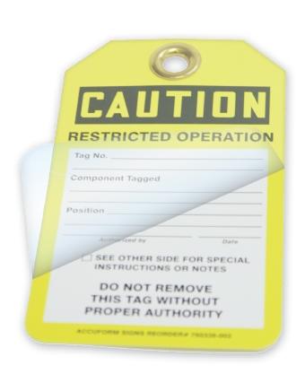 Custom Self-Laminating RS-Flexcard Tags