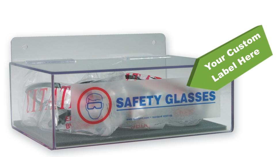 Safety Glasses Dispenser w/ Custom Label
