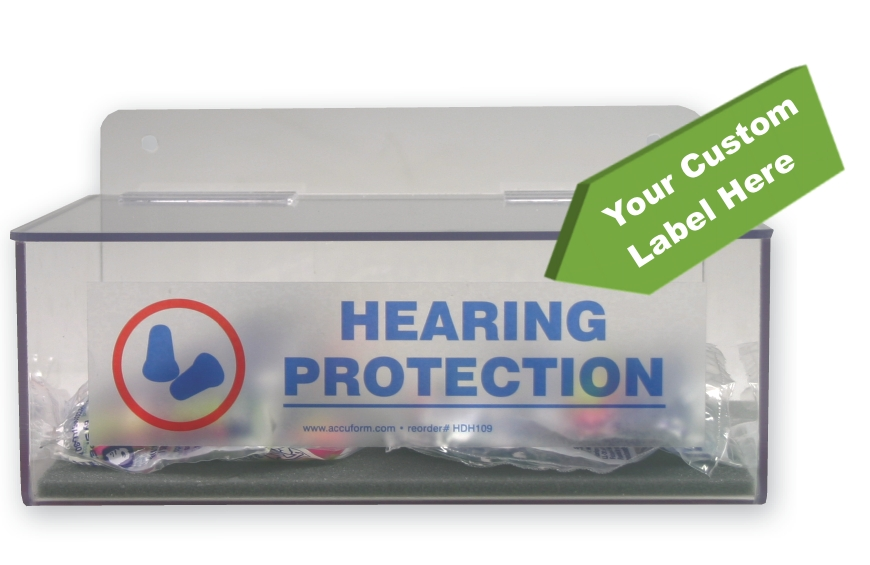 Hearing Protection Dispenser w/ Custom Label