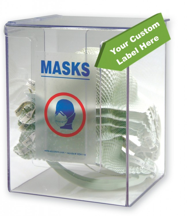 Respirator Mask Dispenser w/ Custom Label