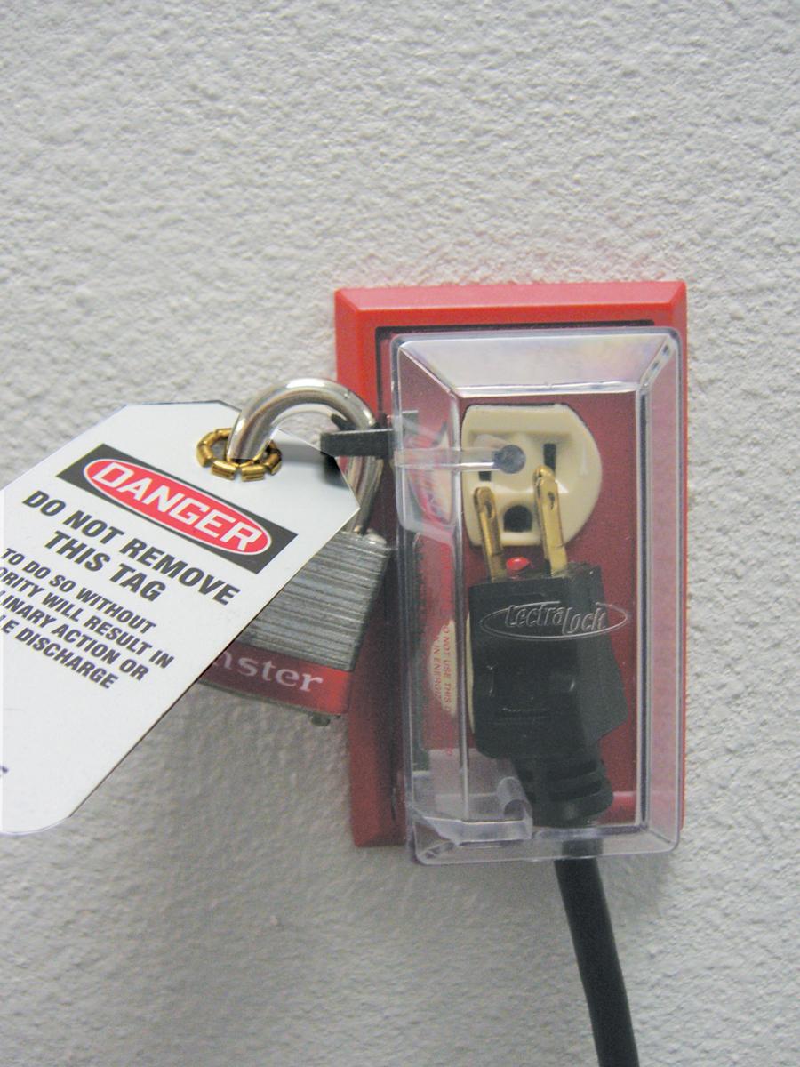Lockout/Tagout Wall plug lockout device