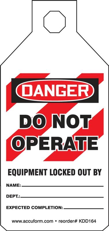 DANGER DO NOT OPERATE