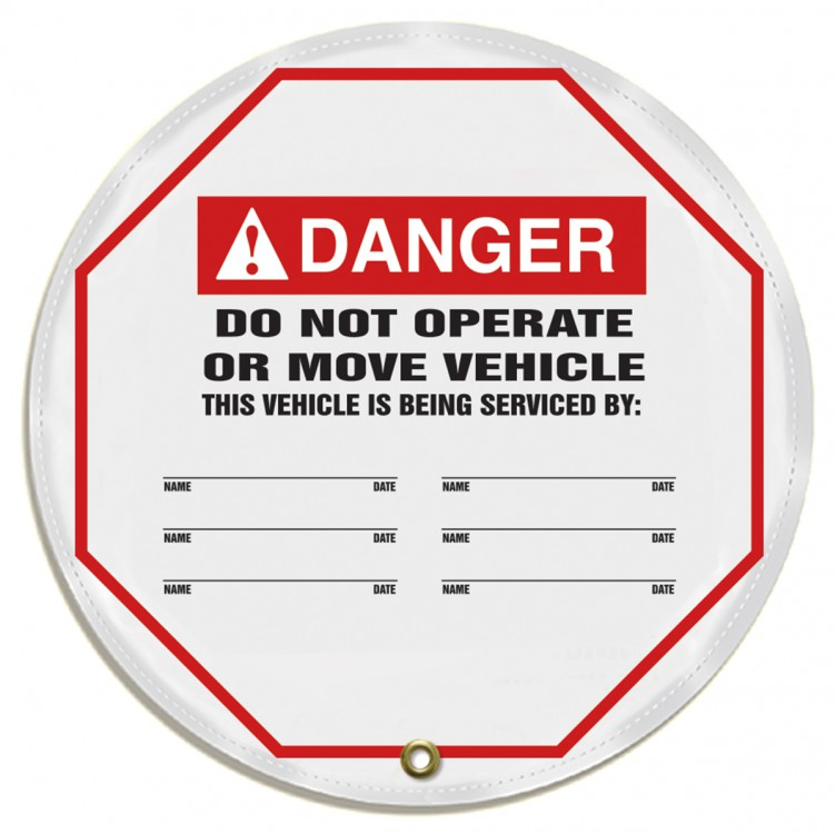 DO NOT OPERATE OR MOVE VEHICLE THIS VEHICLE IS BEING SERVICED BY: ___