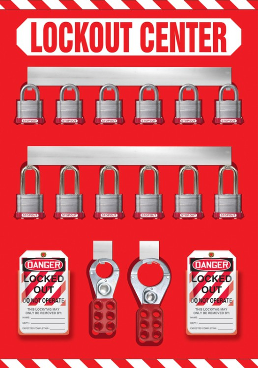 12-Padlock Lockout Store-Board™