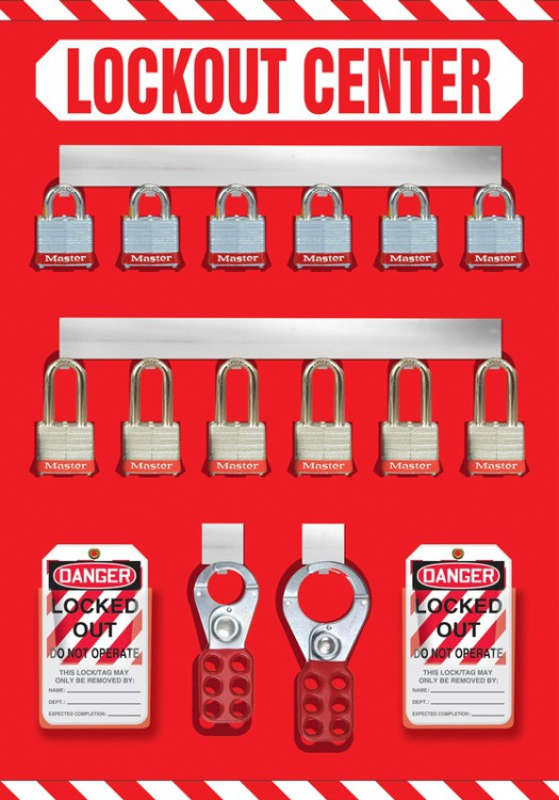 12-Padlock Lockout Store-Board™