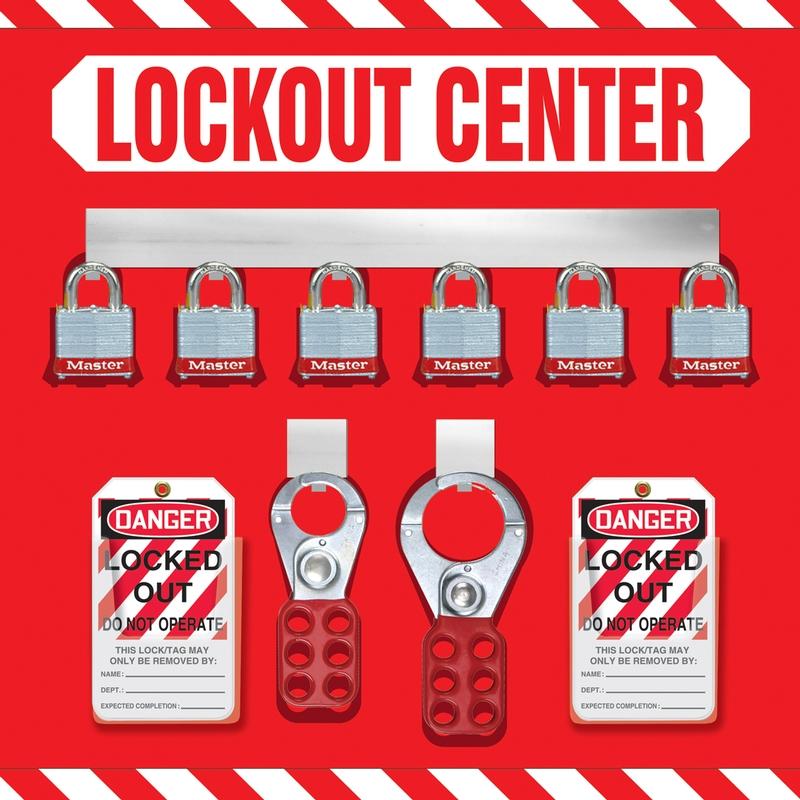 6-Padlock Lockout Store-Board™