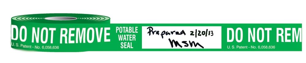 Potable Water Cooler Tape