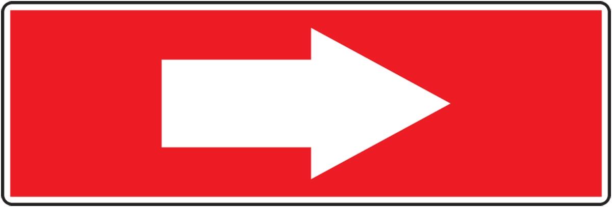 SHORT ARROW (white/red)