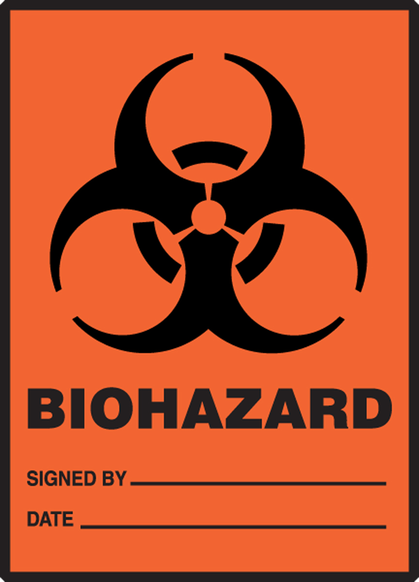 BIOHAZARD SIGNED BY DATE (W/GRAPHIC)