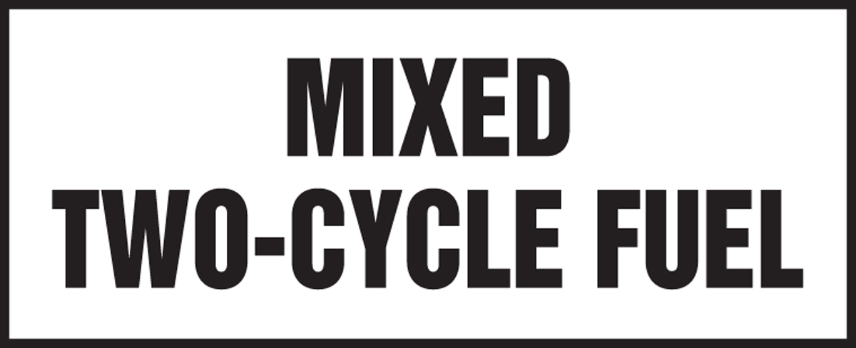 MIXED TWO-CYCLE FUEL