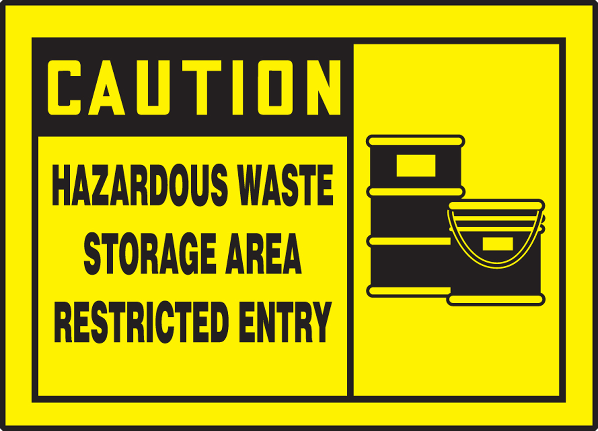 HAZARDOUS WASTE STORAGE AREA RESTRICTED ENTRY (W/GRAPHIC)