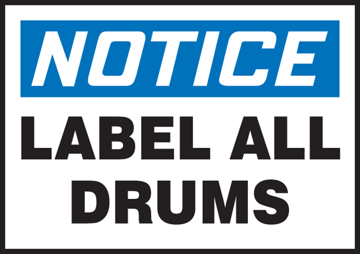 LABEL ALL DRUMS