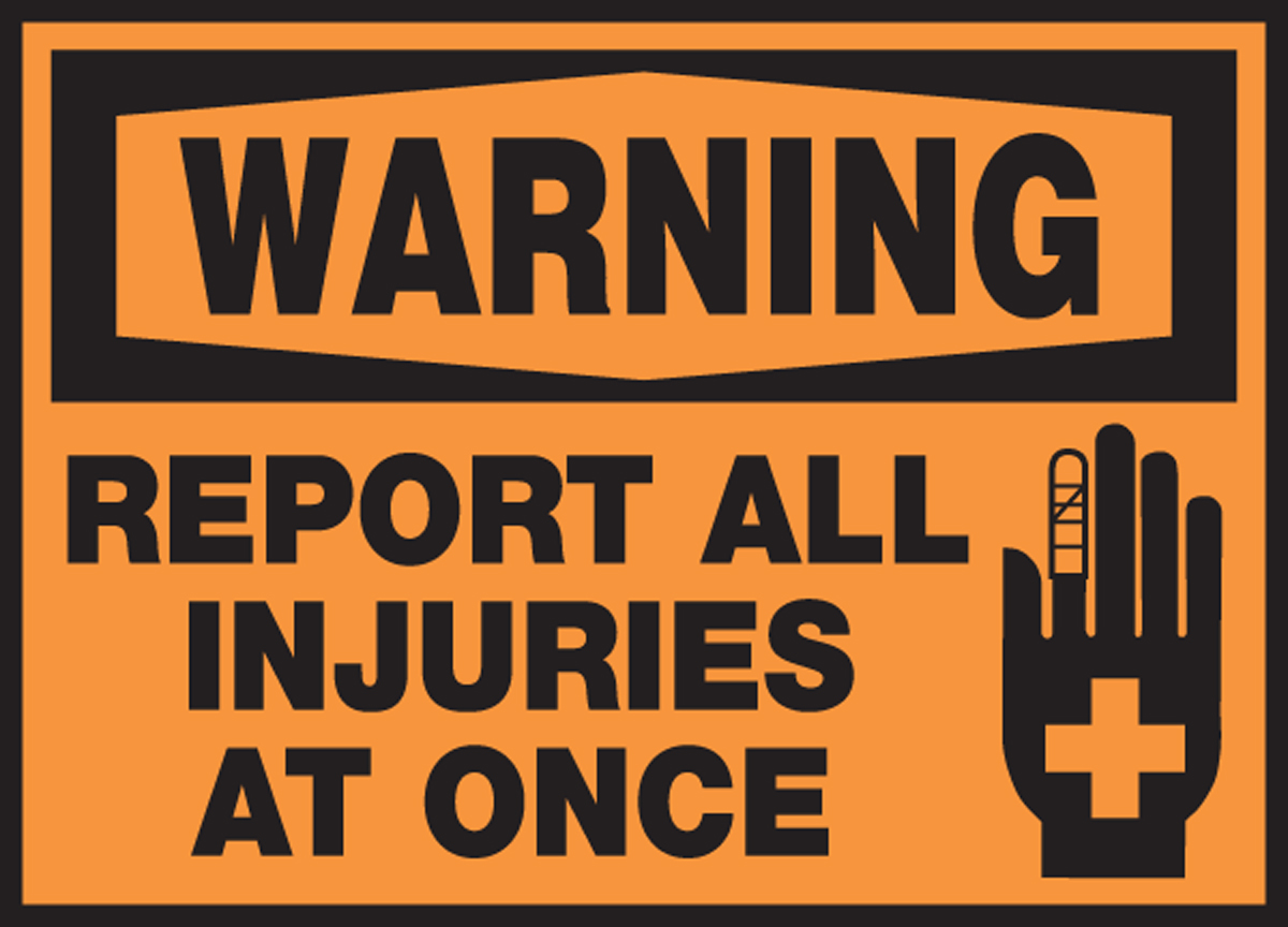 REPORT ALL INJURIES AT ONCE (W/GRAPHIC)