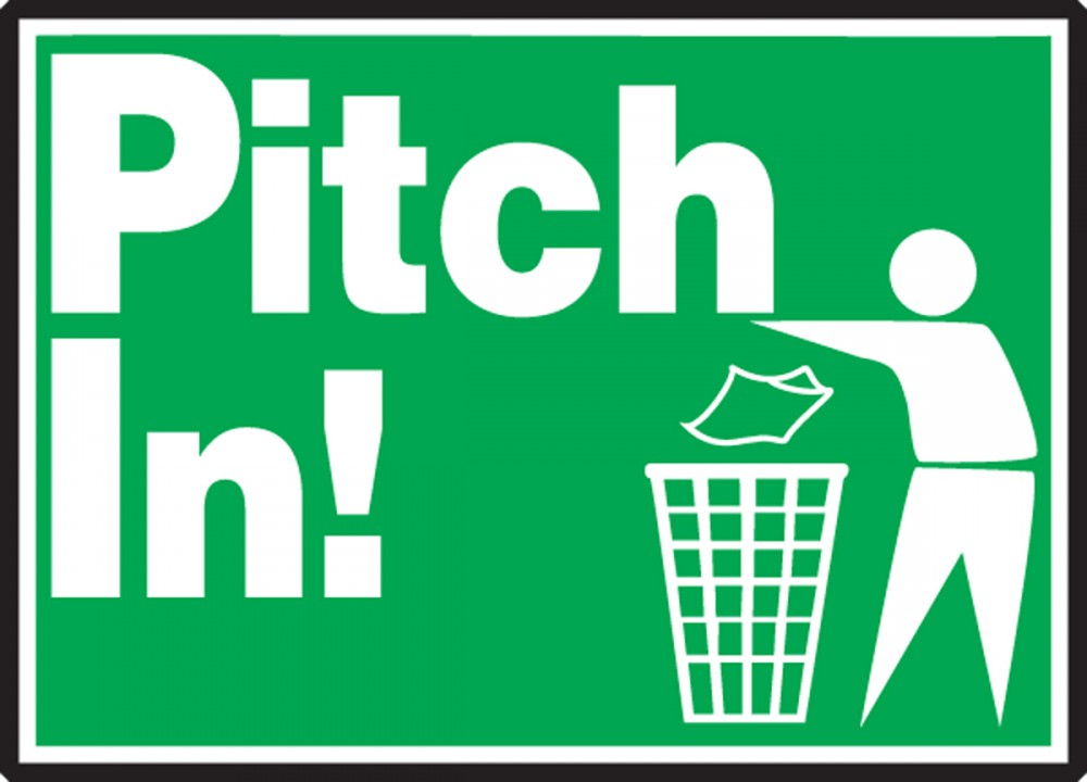 PITCH IN! (W/GRAPHIC)