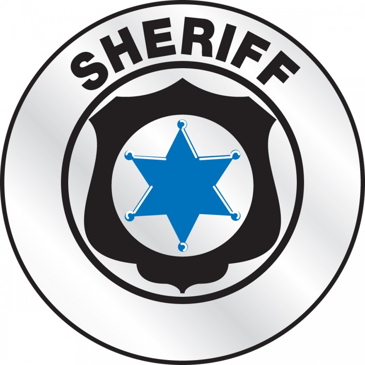 hard hat reflective stickers SHERIFF