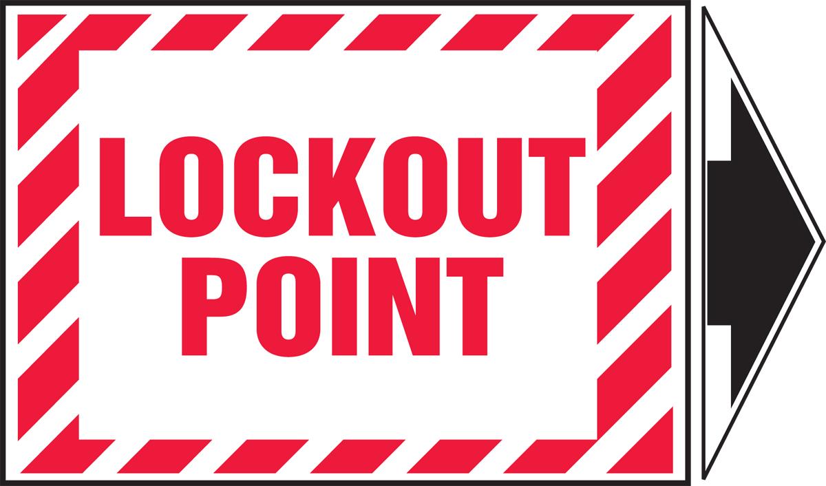 LOCKOUT POINT (+ ARROW)