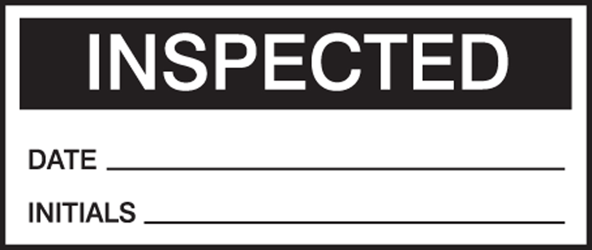 INSPECTED DATE INITIALS