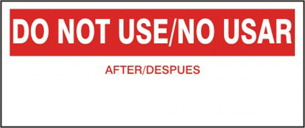 DO NOT USE/NO USAR