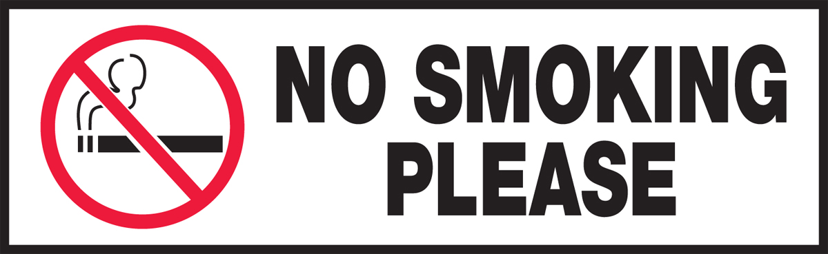 NO SMOKING PLEASE (W/GRAPHIC)