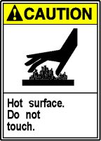 HOT SURFACE DO NOT TOUCH (W/GRAPHIC)