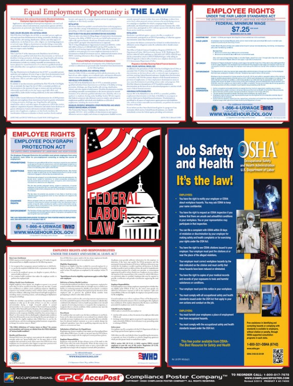 US FEDERAL LABOR LAW POSTERS