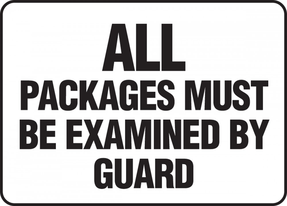 All Packages Must Be Examined By Guard