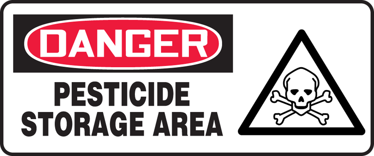 PESTICIDE STORAGE AREA (W/GRAPHIC)