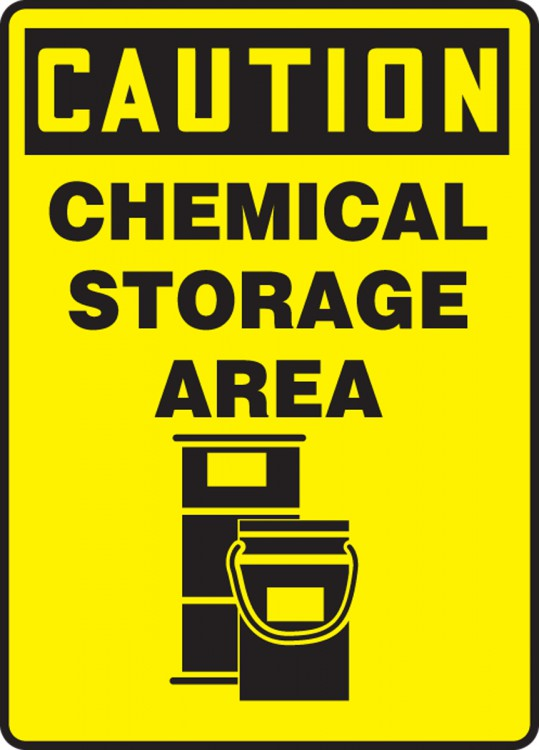 CHEMICAL STORAGE AREA (W/GRAPHIC)
