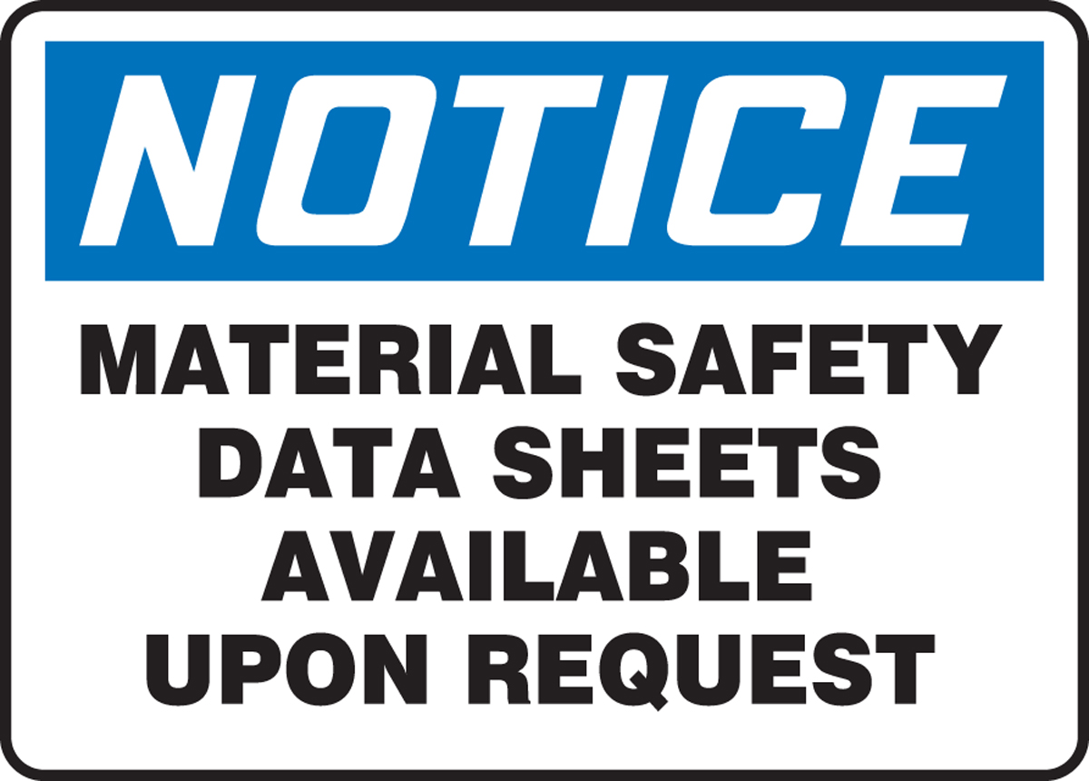 MATERIAL SAFETY DATA SHEETS AVAILABLE UPON REQUEST