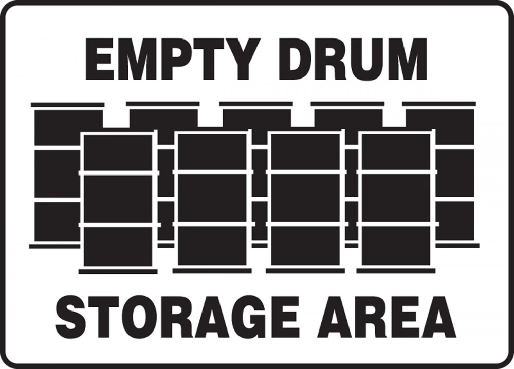 EMPTY DRUM STORAGE AREA (W/GRAPHIC)
