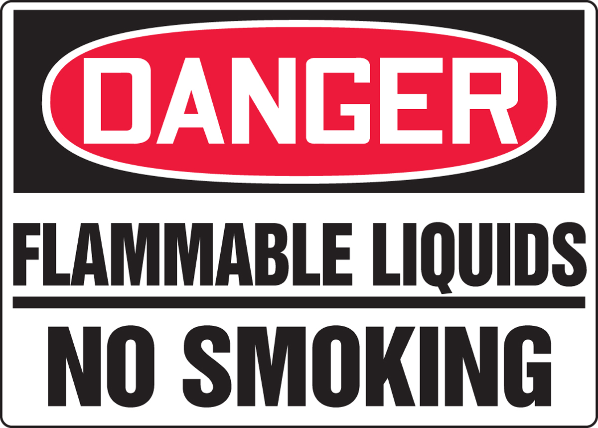 FLAMMABLE LIQUIDS NO SMOKING