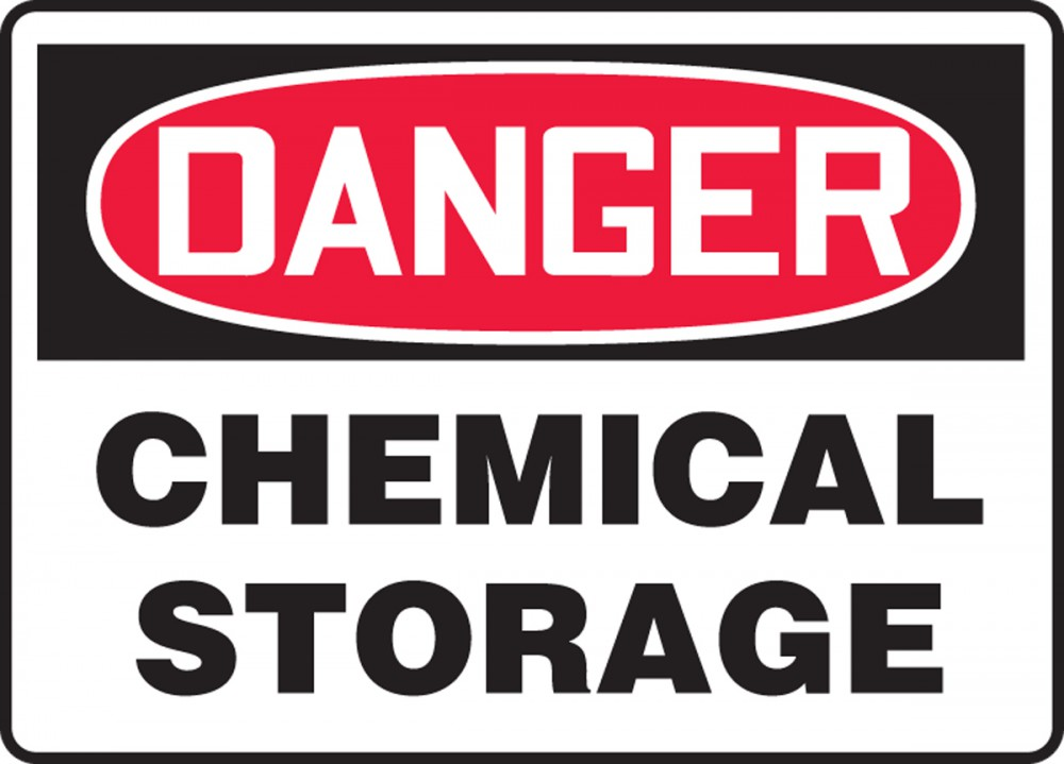 Chemical Storage OSHA Danger Safety Sign MCHL192