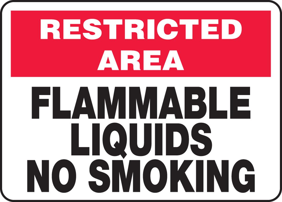 FLAMMABLE LIQUIDS NO SMOKING