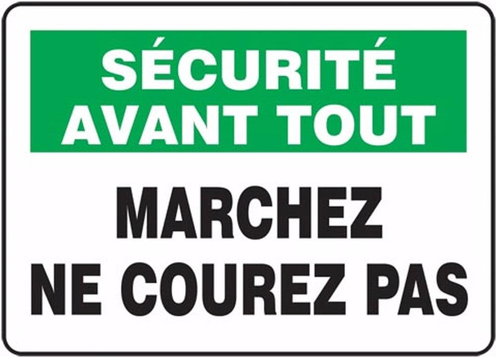 SÉCURITÉ AVANT TOUT MARCHEZ NE COUREZ PAS (FRENCH)