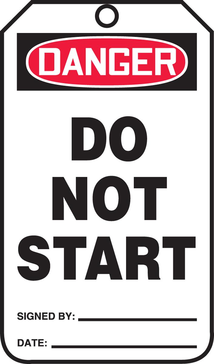 DANGER DO NOT START<BR><BR>PELIGRO NO ENCENDER (SPANISH)