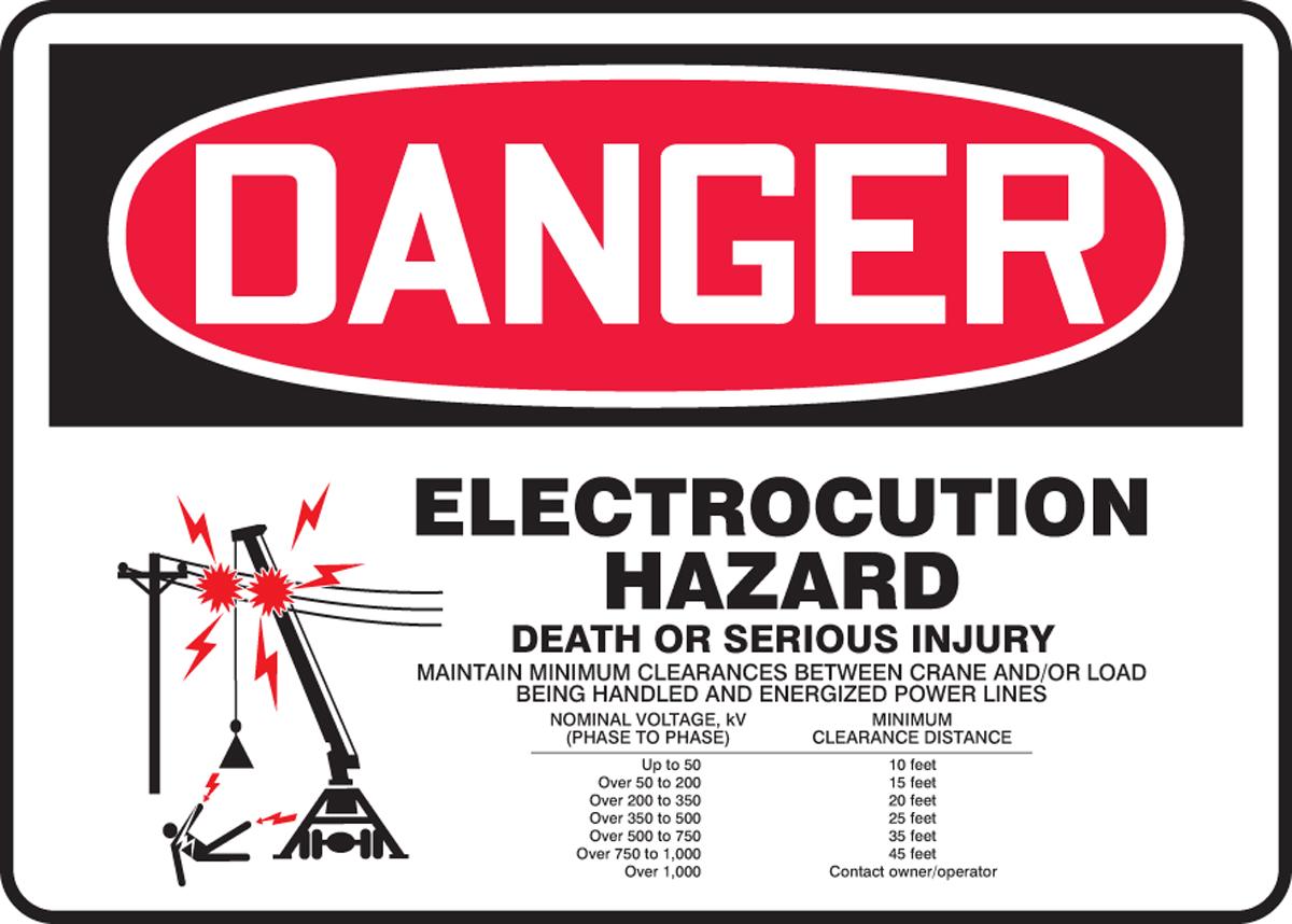 Electrocution Hazard Sign