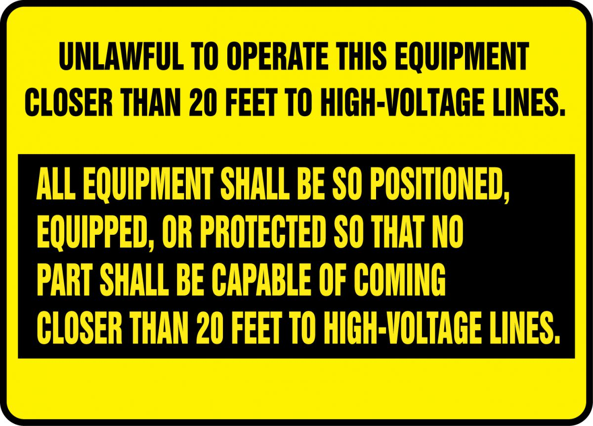 Equipment Safety Sign