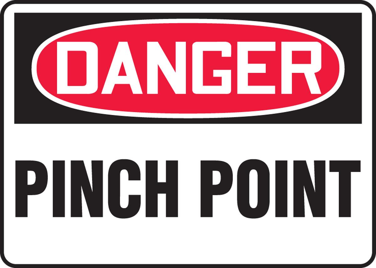DANGER PINCH POINT<BR><BR>PELIGRO PUNTO DE COMPRESIÓN (SPANISH)<BR><BR>DANGER POINT DE PINCEMENT (FRENCH)