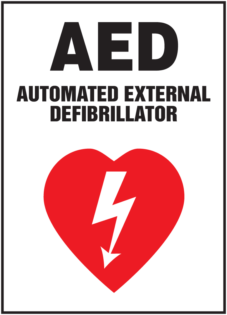 AED AUTOMATED EXTERNAL DEFIBRILATOR (W/GRAPHIC)