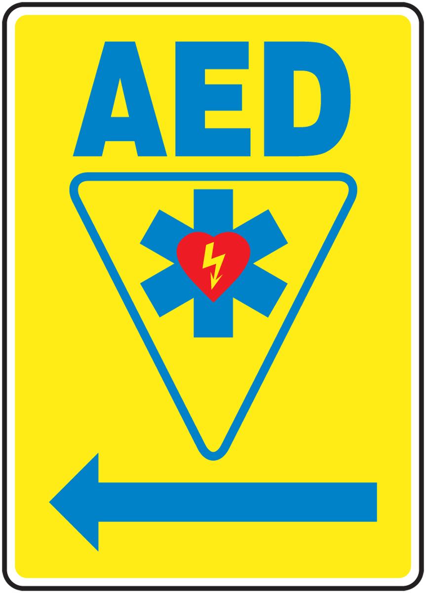 AED <--- (LEFT ARROW) (W/GRAPHIC)