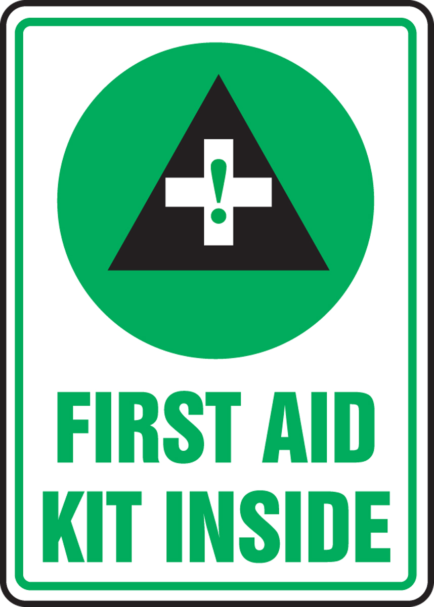 FIRST AID KIT INSIDE (W/GRAPHIC)