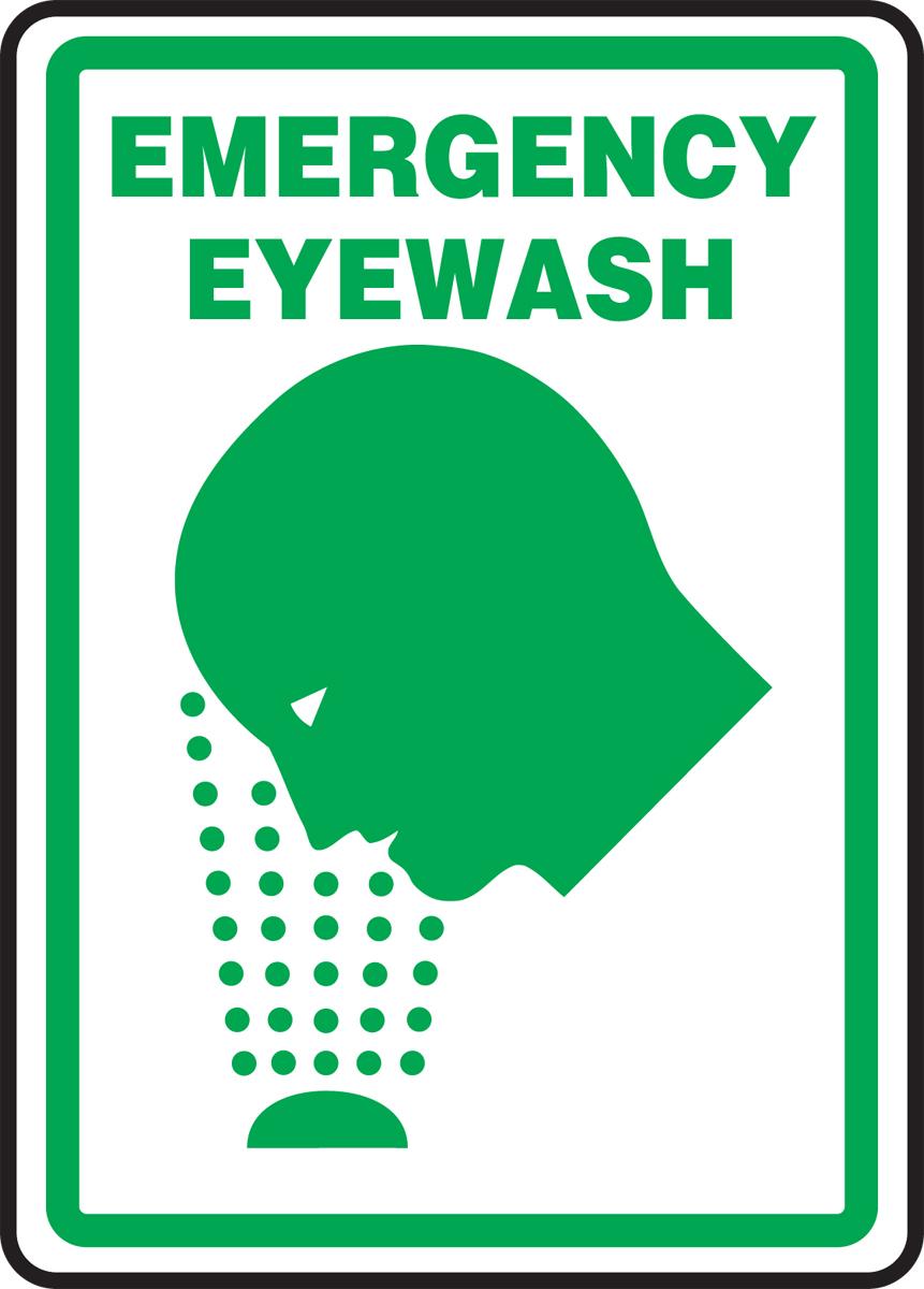 EMERGENCY EYEWASH (W/GRAPHIC)