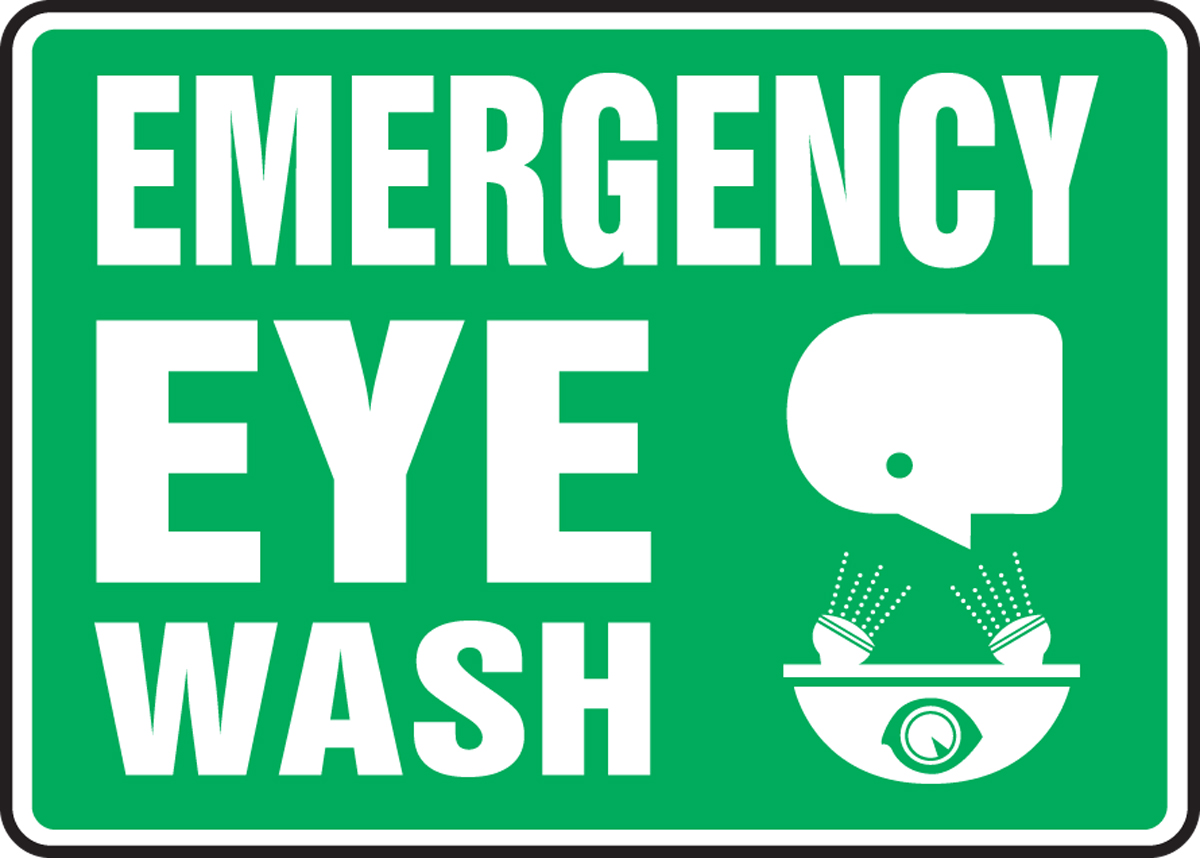 EMERGENCY EYEWASH (W/GRAPHIC)