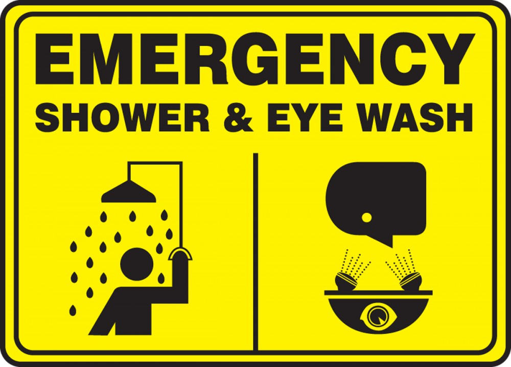 EMERGENCY SHOWER & EYE WASH (W/GRAPHIC)