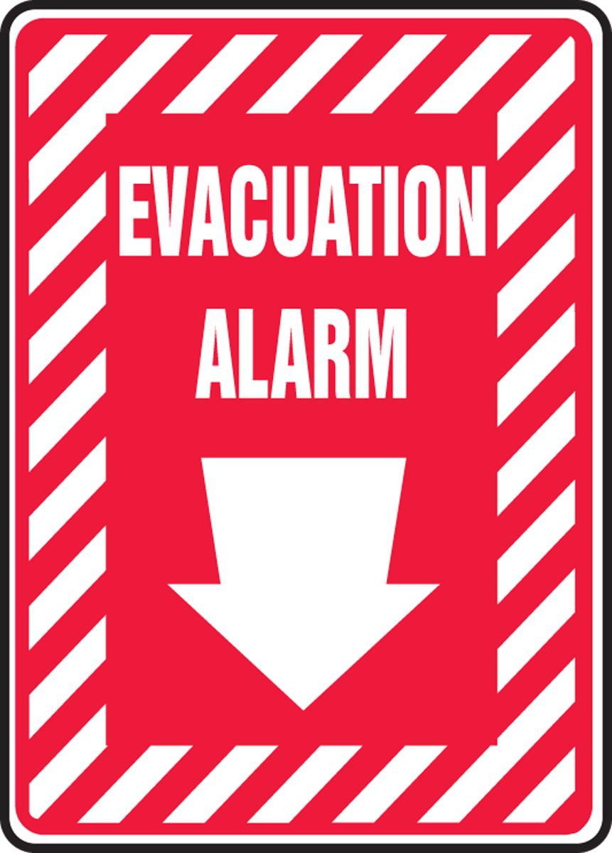 EVACUATION ALARM (ARROW DOWN)