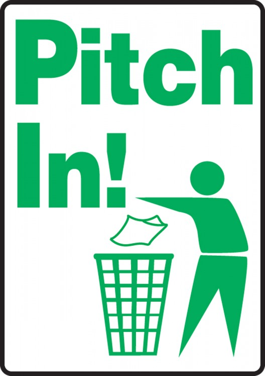 PITCH IN (W/GRAPHIC)