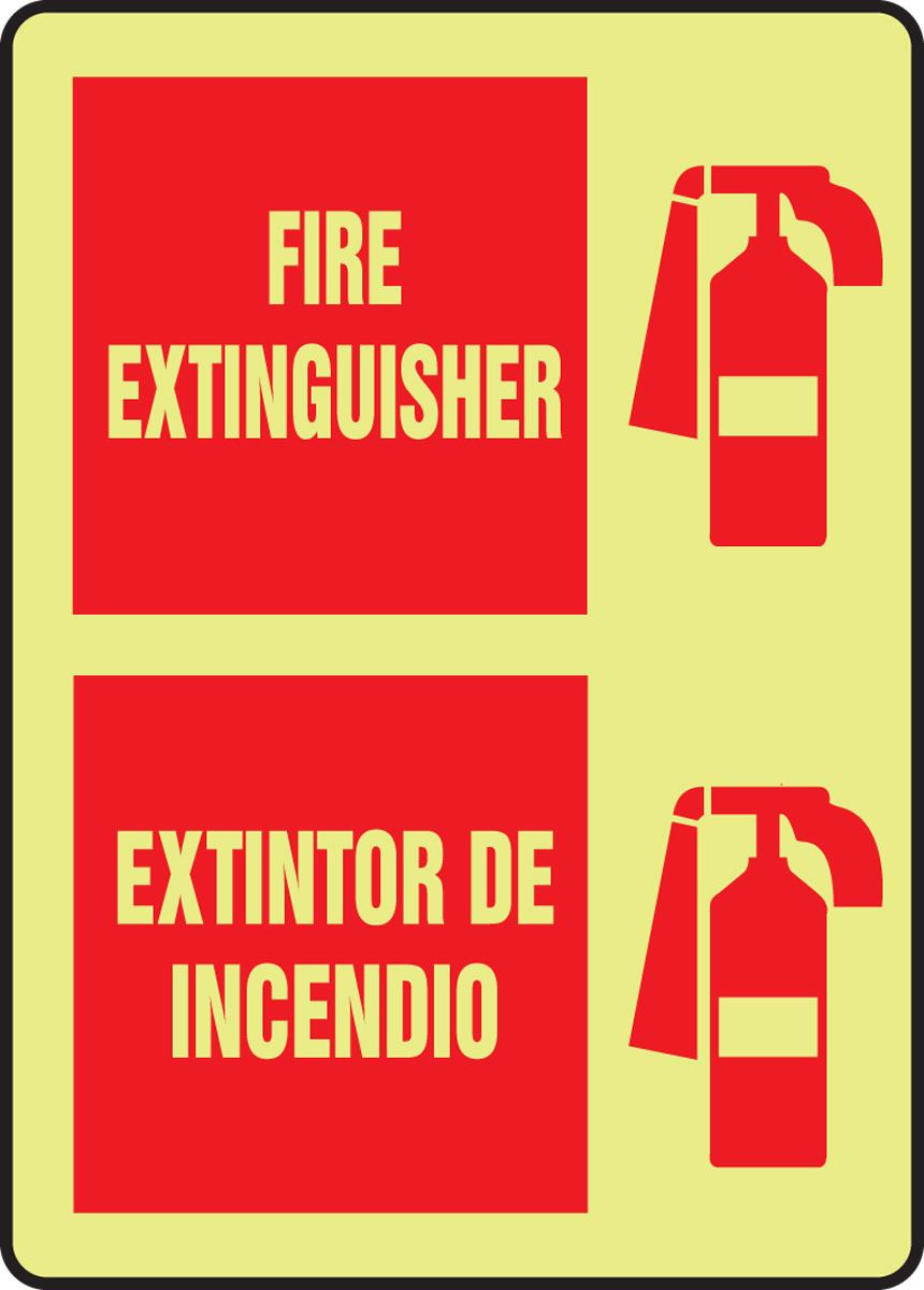 FIRE EXTINGUISHER INSIDE (W/GRAPHIC) (GLOW)